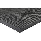 "Genuine Joe Free Flow Comfort Anti-fatigue Mat - 48"" (1219.20 mm) Length x 36"" (914.40 mm) Width x 0.50"" (12.70 mm) Thickness - Rubber - Black"