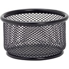 "Lorell Black Mesh/Wire Paper Clip Holder - 3.75"" (95.25 mm) x 2.13"" (53.98 mm) x - Steel - 1 Each - Black"