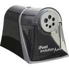 """Acme United iPoint Evolution Axis Pencil Sharpener - Desktop - Helical - 5"""" (127 mm) Height x 7.75"""" (196.85 mm) Width x 5.38"""" (136.53 mm) Depth - Silver"""