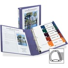 """Avery® 1-Touch Heavy-duty EZD Lock Ring View Binder - 1"""" Binder Capacity - Letter - 8 1/2"""" x 11"""" Sheet Size - Ring Fastener(s) - 4 Pocket(s) - Poly, Chipboard - Purple - Locking Ring, Gap-free Ring, Archival-safe, Non-stick, PVC-free, Heavy Duty - 1 E"""