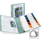 """Avery® 1-Touch Heavy-duty EZD Lock Ring View Binder - 1"""" Binder Capacity - Letter - 8 1/2"""" x 11"""" Sheet Size - Ring Fastener(s) - 4 Pocket(s) - Poly, Chipboard - Sea Foam Green - Locking Ring, Gap-free Ring, Archival-safe, Non-stick, PVC-free, Heavy Du"""