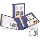 """Avery 1-Touch Hvy-duty Lock Ring View Binder - 1 1/2"""" Binder Capacity - Letter - 8 1/2"""" Width x 11"""" Length Sheet Size - Ring Fastener - 4 Pockets - Poly, Chipboard - Purple - 1 Each"""