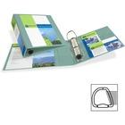"Avery® 1-Touch Heavy-duty EZD Lock Ring View Binder - 3"" Binder Capacity - Letter - 8 1/2"" x 11"" Sheet Size - Ring Fastener(s) - 4 Pocket(s) - Chipboard - Sea Foam Green - Heavy Duty, Gap-free Ring, Non-stick, Archival-safe, PVC-free - 1 Each"