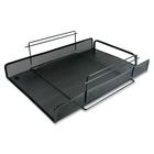 "Artistic Desk Tray - 10"" Height x 13.8"" Width x 3.5"" Depth - Black - Metal - 1Each"