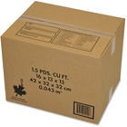 """Crownhill Shipping Box - External Dimensions: 13"""" Width x 13"""" Depth x 16"""" Height - 42.48 L - Kraft - Brown - For Book, CD/DVD, Tool - Recycled - 10 / Pack"""