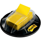 """Post-it® Desk Grip Dispenser With Flags - 1"""" (25.40 mm) x 1.70"""" (43.18 mm) - 200 Flag Capacity - Yellow"""