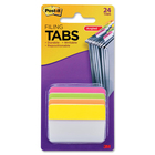 "3M Tab Divider - Write-on Tab(s) - 1.50"" Tab Height x 2"" Tab Width - Bright Assorted Tab(s) - 1 Pack"