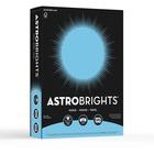 "Astrobrights Inkjet, Laser Print Colored Paper - Letter - 8 1/2"" x 11"" - 24 lb Basis Weight - Smooth - 500 / Pack - Lunar Blue"