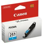 Canon CLI-251C Ink Cartridge - Cyan - Inkjet - Standard Yield - 304 Pages