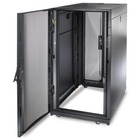 "Schneider Electric NetShelter SX 24U 600mm x 1070mm Deep Enclosure - For Server - 24U Rack Height x 19"" (482.60 mm) Rack Width - Floor Standing - Black - 1022.73 kg Dynamic/Rolling Weight Capacity - 1363.64 kg Static/Stationary Weight Capacity"