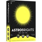 "Astrobrights Inkjet, Laser Copy & Multipurpose Paper - Letter - 8 1/2"" x 11"" - 24 lb Basis Weight - 500 / Pack - Lift-off Lemon"