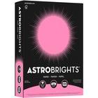 """Astrobrights Inkjet, Laser Copy & Multipurpose Paper - Letter - 8 1/2"""" x 11"""" - 24 lb Basis Weight - 500 / Pack - Pulsar Pink"""