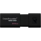 Kingston 64GB DataTraveler 100 G3 USB 3.0 Flash Drive - 64 GB - USB 3.0 - 40 MB/s Read Speed - 10 MB/s Write Speed - 5 Year Warranty