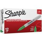 Sharpie Fine Point Permanent Marker - Fine Marker Point - 1 mm Marker Point Size - Green - 12 / Dozen