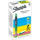 Sharpie Accent Highlighter - Liquid Pen - Micro Marker Point - Chisel Marker Point Style - Fluorescent Green Pigment-based Ink - 12 / Dozen