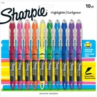 Sharpie Accent Highlighter - Liquid Pen - Micro Marker Point - Chisel Marker Point Style - Assorted Pigment-based Ink - 10 / Set
