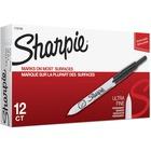 Sharpie Retractable Ultra Fine Point Permanent Marker - Ultra Fine Marker Point - Retractable - Black - 12 / Dozen