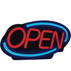 """Royal Sovereign LED Open Business Sign - 1 Each - Open Print/Message - 24.40"""" (619.76 mm) Width x 13.40"""" (340.36 mm) Height - Rectangular Shape - Energy Efficient - Red, Blue"""