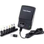 CyberPower CPUAC600 Universal Power Adapter 3-12V 600mA and AC Power Plug - 5 ft Cable - 110 V AC Input - 3 V DC/600 mA, 4.5 V DC, 6 V DC, 7.5 V DC, 9 V DC, 12 V DC Output - Black