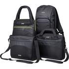 "Kensington Triple Trek Carrying Case (Backpack) for 13"" to 14"" Ultrabook - Black - Scratch Resistant Interior - Fleece Interior - Handle, Shoulder Strap - 16"" (406.40 mm) Height x 12"" (304.80 mm) Width x 3.50"" (88.90 mm) Depth"