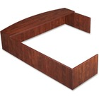 "Lorell Essentials Series L-Shaped Reception Counter - 76.8"" Width x 66.1"" Depth x 14.8"" Height x 1"" Thickness - Wood, Laminate - Cherry"
