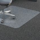 """Lorell Polycarbonate Rectangular Studded Chairmats - Carpeted Floor - 36"""" (914.40 mm) Width x 48"""" (1219.20 mm) Depth - Rectangle - Polycarbonate - Clear"""