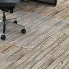 """Lorell Hard Floor Rectangler Polycarbonate Chairmat - Hard Floor, Vinyl Floor, Tile Floor, Wood Floor - 53"""" (1346.20 mm) Length x 45"""" (1143 mm) Width x 0.13"""" (3.38 mm) Thickness - Rectangle - Polycarbonate - Clear"""