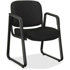 "Lorell Black Fabric Guest Chair - Black Fabric, Plywood Seat - Black Fabric, Plywood Back - Metal Frame - Sled Base - Black - 26"" Width x 24.8"" Depth x 33.5"" Height - 1 Each"
