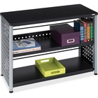 """Safco Scoot Contemporary Design Bookcase - 36"""" x 15.5"""" x 27"""" - 2 Shelve(s) - Material: Steel, Particleboard - Finish: Black, Laminate, Powder Coated"""