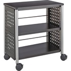 """Safco Scoot Personal Contemporary Design Bookcase - 25"""" x 15.5"""" x 27"""" - 2 Shelve(s) - Material: Steel, Particleboard - Finish: Black, Laminate, Powder Coated"""