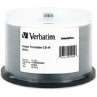 Verbatim CD-R 700MB 52X DataLifePlus White Inkjet Printable - 50pk Spindle - Printable - Inkjet Printable