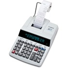 Canon MP49DII Desktop Printing Calculator - Dual Color Print - Dot Matrix - 4.8 lps - Heavy Duty, Extra Large Display, Auto Power Off, Clock, Calendar, Sign Change, Item Count - 14 Digits - Fluorescent - AC Supply Powered - Gray - 1 Each