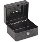 """FireKing CB0604 Key Locking Coin/Stamp Box - Key Lock - for Money, Coin, Stamp - Internal Size 2.9"""" x 5.8"""" x 4.4"""" - Overall Size 3"""" x 6"""" x 4.6"""" - Silver, Black Carbon - Plastic, Steel, Steel"""