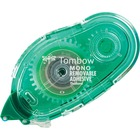 """Tombow Mono Removable Adhesive Applicator - 13.1 yd (12 m) Length x 0.33"""" (8.5 mm) Width - Dispenser Included - 1 Each - Clear"""
