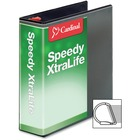 """Cardinal Speedy XtraLife Slant-D Ring Binders - 3"""" Binder Capacity - Letter - 8 1/2"""" x 11"""" Sheet Size - D-Ring Fastener(s) - 2 Pocket(s) - Polyolefin-covered Chipboard - White - Locking Ring, Non-stick, Clear Overlay, Split Resistant, Tear Resistant, Flat"""