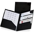 """TOPS Divide-It Up 4-Pockets Poly Folder 5 Packs - Letter - 8 1/2"""" x 11"""" Sheet Size - 110 Sheet Capacity - 4 Internal Pocket(s) - Polypropylene - Black - 5 / Pack"""