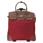 """Exponent Microport Carrying Case (Trolley) for 15"""" Notebook - Red - Polyester, Imitation Leather - Handle - 16.50"""" (419.10 mm) Height x 15.50"""" (393.70 mm) Width x 9"""" (228.60 mm) Depth"""
