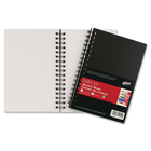 """Hilroy Studio Pro Sketch Book - 75 Sheets - Plain - Twin Wirebound - 50 lb Basis Weight - 6"""" x 9"""" - White Paper - Black Cover - Poly Cover - Durable Cover - 1Each"""