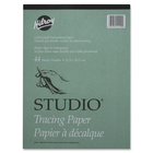 "Hilroy Tracing Paper Pad - 44 Sheets - Plain - 9"" x 12"" - Transparent Paper - Lightweight - 1Each"