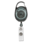 Merangue Carabiner Badge Reels - Plastic - 2 / Pack - Black