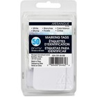 "Merangue 50 Pack White Strung Tags - 1.69"" (42.90 mm) Length x 2.75"" (69.80 mm) Width - Rectangular - String Fastener - 50 / Pack"