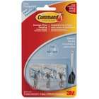Command Small Clear Wire Hooks with Clear Strips - 3 Small Hook - 226.8 g Capacity - Clear, Clear - 1 Pack