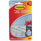 Command Clear Small Hooks - 2 Small Hook - 453.6 g Capacity - Clear, Clear - 1 / Pack