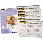 """3M Self-Sealing Gloss Finish Laminating Pouches - Sheet Size Supported: Letter 8.50"""" (215.90 mm) Width x 11"""" (279.40 mm) Length - Type G - Glossy - for Business Card, ID Card, Document, Photo, Phone List - Self-sealing, Wear Resistant, Tear Resistant - Cl"""