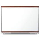 "Quartet Display Board - 36"" (914.40 mm) Height x 48"" (1219.20 mm) Width - Mahogany Surface - 1 Each"