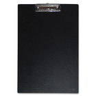 """Duraply """"Stay Clean"""" Clipboards - 8 1/2"""" x 14"""" - Poly - Black - 1 Each"""