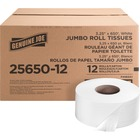 "Genuine Joe 2-ply Jumbo Roll Dispenser Bath Tissue - 2 Ply - 3.3"" x 650 ft - 8.63"" (219.08 mm) Roll Diameter - White - Nonperforated, Unscented - 12 / Carton"