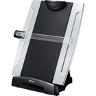 "Fellowes Office Suites Memo Board Desktop Copyholder - 15"" (381 mm) Height x 10.25"" (260.35 mm) Width x 6"" (152.40 mm) Depth - Black, Silver"