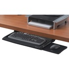 "Fellowes Deluxe Keyboard Drawer With Soft Touch Wrist Rest - 2.5"" Height x 30.8"" Width x 14"" Depth - Black, Silver"