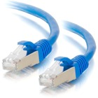 C2G Cat.6 STP Patch Network Cable - 1 ft Category 6 Network Cable for Network Device - First End: 1 x RJ-45 Male Network - Second End: 1 x RJ-45 Male Network - Patch Cable - Shielding - Blue